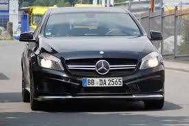 mercedes a class black mercedes a45 amg black series spied auto express