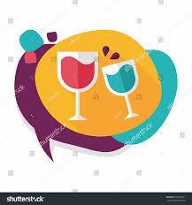 martini cartoon clip art martini glass cheers flat icon long stock vector 259509791