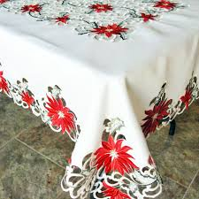 embroidered poinsettia tablecloth linens and things