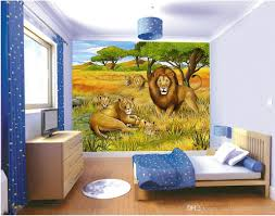 3d Wallpaper For Living Room by Jungle Lion Oil Painting Kids Room Backdrop Mural 3d Wallpaper 3d