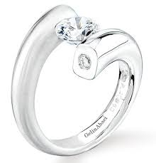 tension engagement rings tension set engagement rings