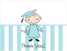 boy graduation thank you note cards