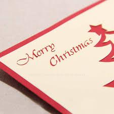 handmade card 3d christmas theme tree kirigami birthday new year