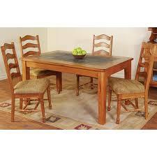 Oak Top Dining Table Rustic Oak Slate Collection Rustic Oakslate Top Dining Table