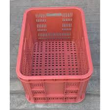 Keranjang Industri jual keranjang industri krat plastik kecil merah mk004 merk skyplast
