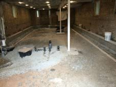 Basement Floor Insulation Basement Floor Prep U2013 Stone And Insulation Two Flat Remade
