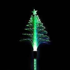 solar christmas tree lights solar fiber christmas tree garden stake garden and pond depot
