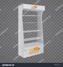 pos poi cardboard glass floor display stock vector 519553594