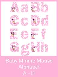 baby minnie mouse alphabet letters free pdf download wow