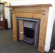 antique victorian pine mantel fireplace surround