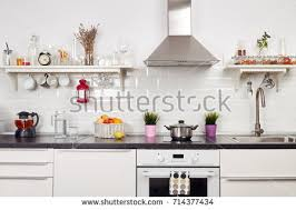 interior light kitchen apartment bright home stock photo 714377425