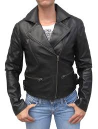 motorcycle style leather jacket womens stylish black fashion lambskin leather biker jacket item