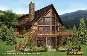 log home floor plans with basement golden eagle log and timber homes floor plan details montana 2