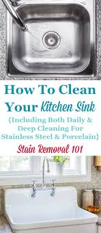 How To Clean Kitchen Sinks Hints And Tips - Cleaning kitchen sink