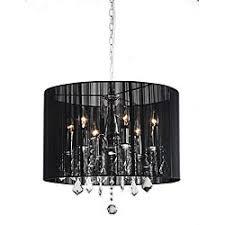 Black Chandelier Lamps Chrome And Black 6 Light Crystal Chandelier Elegant Chandeliers