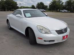 lexus 2 door convertible 2007 lexus sc convertible for sale 101 used cars from 16 995