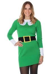 women u0027s ugly christmas sweater green elf sweater dress at amazon