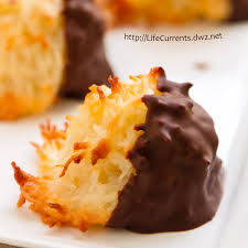 chocolate dipped coconut macaroons these are definitely one of