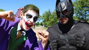 joker vs batman in real life superhero u0026 villain movie youtube