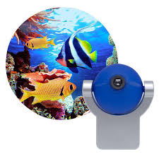automatic led night light projectables tropical fish automatic led night light 11296 the