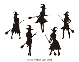 Halloween Silhouettes by Isolated Witch Silhouettes Vector Download