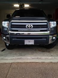 2014 tundra led light bar who has mounted a lightbar behind your grille toyota tundra forum