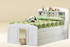 full size white captain bed frame with storage drawers plus single