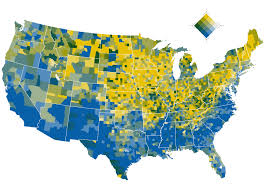 Picture Of The Map Of The United States by Where The Country Is Becoming More Diverse Washington Post