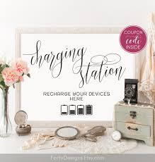 wedding charging station sign printable charging bar sign