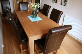 Scroll Back Leather Dining Chairs Luxury Dining Table Set Leather Titan Chairs