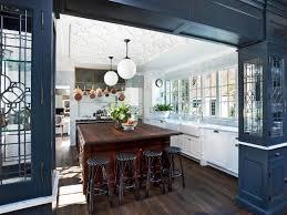 kitchen rustic modern open kitchen design with wooden cabinet