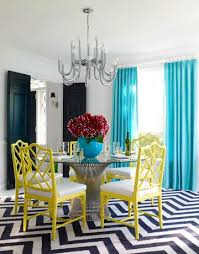 Jonathan Adler Curtains Designs Teal Blue Curtains Contemporary Dining Room Jonathan Adler
