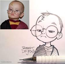 50 beautiful photo to cartoon drawings by robert dejesus cartoon