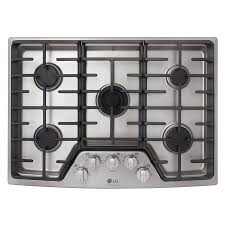 30 Inch 5 Burner Gas Cooktop Shop Gas Cooktops At Lowes Com