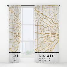 Curtains St Louis St Louis Missouri City Map Window Curtains By