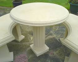 cement table and chairs stone and concrete garden furniture stonecrete benches and tables
