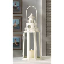 blue glass lighthouse tower nautical candle lantern best decor com