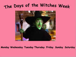 days of the week introduction using witches ks1 by debrunho