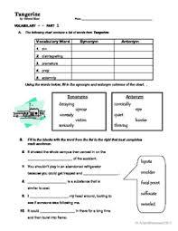 tangerine vocabulary and spelling worksheets by arlene manemann tpt