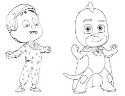 pj masks coloring pages getcoloringpages com