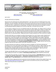 welcome back letter from principal perez salt creek elementary
