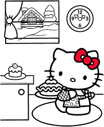 36 kitty colouring pages images