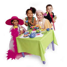 for a younger child a tea party is a fun opportunity to dress up