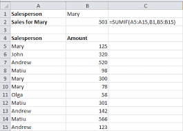 using sumif to add up cells in excel that meet certain criteria