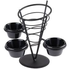 american metalcraft fbc93 black wrought iron wire fry basket with