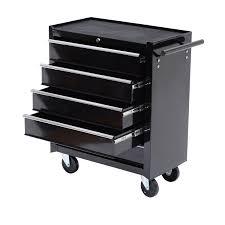 rolling tool storage cabinets homcom 5 drawer steel rolling tool cabinet wheeled storage cart box