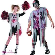 zombie american football player cheerleader halloween fancy dress