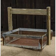 amazon com galvanized wire mesh rust basket primitive country