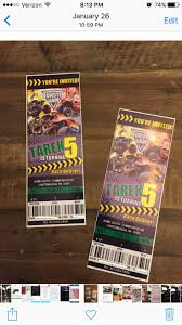 monster truck show wichita ks monster jam grave digger birthday invitation monster jam