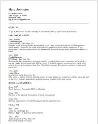 Sample Resume For Banking Operations by Sample Resume Bank Credit Manager
